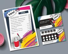 Дизайн сертификата и визитки для мастера маникюра