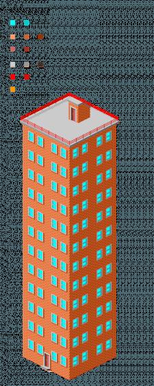 Многоэтажка PixelArt