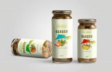 Дизайн этикетки для оливок