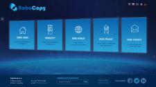 Сайт рекламы копировального автомата Robocopy.