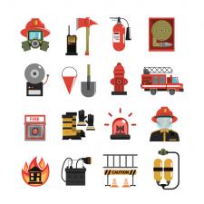 Иконки для сайта о пожарных