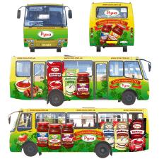 Дизайн реклами на транспорті + фото продукції
