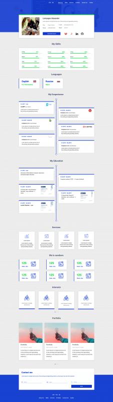Landing page для разработчика