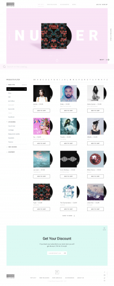Online store for sale vinyl records