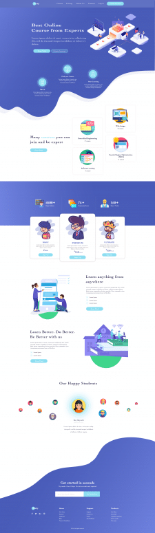 landing page for IT Course