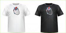 Принт на футболку. Сердце.
