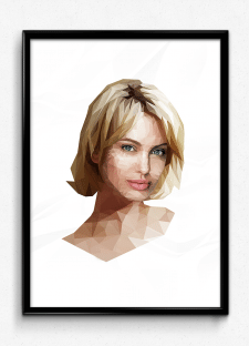 portrait low poly