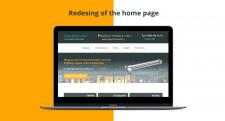 Редизайн главной страницы корпоративного сайта