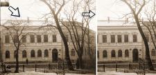 Увеличение и редактирование старого фото.