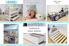 Детские кроватки по РФ