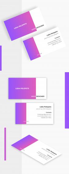 Разработка визитки для дизайнера