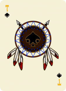 Spielkarten Indians- Farbig16