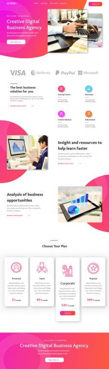 Landing Page Digital Agency