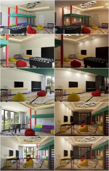 Визуализация и моделирование игровой комнаты
