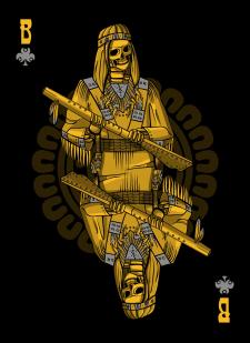 Spielkarten Indians- Skelette7