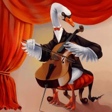 Лебедь-виолончелист