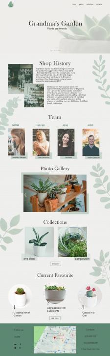 Дизайн для сайта-визитки магазину растений