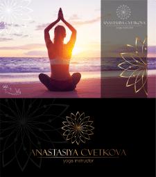 Разработка логотипа для инструктора йоги