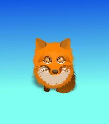 милая лисичка, вектор