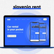 Car rent Slovenia (design)