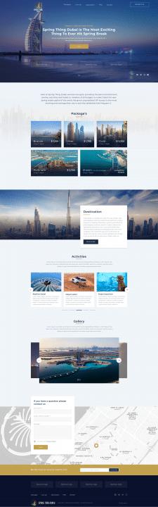 Travel website for Spring thing Dubai