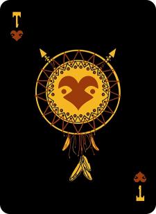 Spielkarten Indians- Skelette13