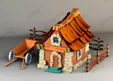 Игровой домик дизайн и визуализация 3дмакс
