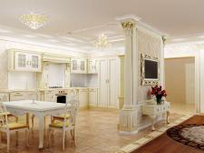 Интерьер кухни-гостинной