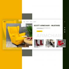 Концепт первого экрана для мебельного магазина