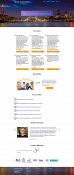 Дизайн главной страницы сайта компании Prime
