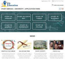 """Сайт """"Образование за рубежом"""" на 5-и языках"""