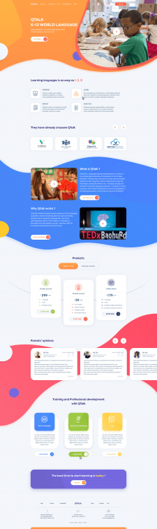 Дизайн главной страницы сайта QTalk