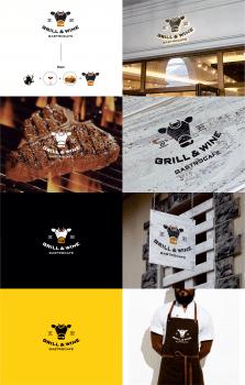 Разработка логотипа для gastrocafe GRILL&WINE
