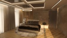 Визуализация благородной спальной комнаты