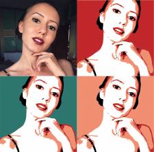 Отрисую в векторе портрет по фото в стиле поп-арт
