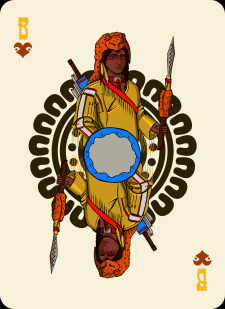 Spielkarten Indians- Farbig6