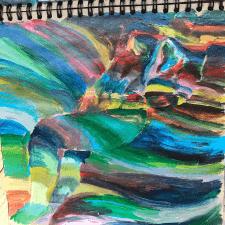 Иллюстрация красками