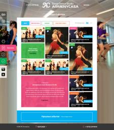 Сайт танцевальной студии