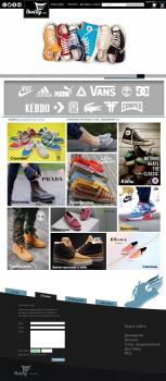 дизайн сайта обуви