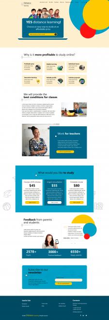 Макет главной страницы сайта Образование онлайн