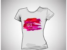 Дизайн принта на женскую футболку