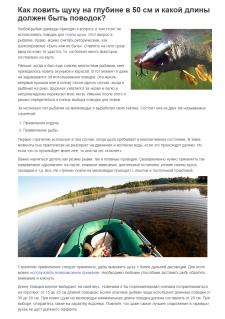 Ловля щуки на мелководье (текст от первого лица)