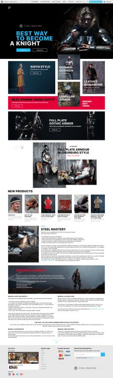 Інтернет магазин з продажу середньовічного одягу