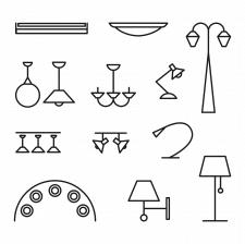 иконки светильников линии