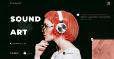 Дизайн первой страницы сайта для магазина техники