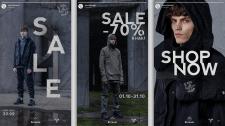 Дизайн инстаграм сторис для бренда одежды