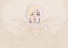 Ангел. Набросок персонажа