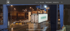 Сайт компании по морским перевозкам