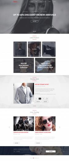 Адаптивный сайт для модного бутика мужской и женск