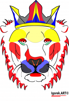Лев (принт)